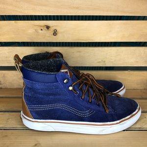 Boys sk8 hi Ultra Vans Blue suede/brown 3.5y